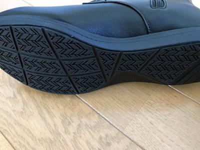 『ベネビス』ウォーキングレースアップブーツ靴底も滑りにくくなっています